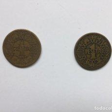 Monedas Franco: LOTE 2 MONEDAS: 1 PESETA (FRANCO, 1944) ESPAÑA ¡COLECCIONISTA! ¡ORIGINALES!. Lote 160807974