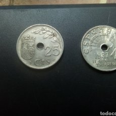 Monedas Franco: 25 CTMS 1937 SIN CIRCULAR. Lote 160831414