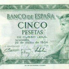Monedas Franco: 5 PTAS. . 1954 SIN CIRCULAR. Lote 160922670