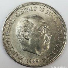 Monedas Franco: MONEDA DE 5 PESETAS. FRANCISCO FRANCO. ESPAÑA 1949. Lote 160950586