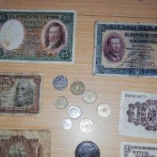 Monedas Franco: LOTE DE MONEDAS Y BILLETES VARIOS.. Lote 161137370