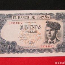 Monedas Franco: 500 PESETAS 23 DE JULIO 1971 EXCELENTE BILLETE. Lote 161141326
