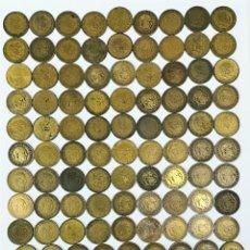 Monedas Franco: 108 MONEDAS DE UNA PESETA FRANCISCO FRANCO. ESPAÑA 1947.1953.1963. Lote 161220350