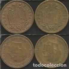 Monedas Franco: ESPAÑA 1963 *65 *66 - 1 PESETA - KM 775 - LOTE 2 MONEDAS CIRCULADAS. Lote 161230450