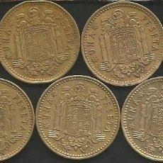 Monedas Franco: ESPAÑA 1966 (VER ESTRELLAS) - 1 PESETA - KM 796 - LOTE 7 MONEDAS CIRCULADAS. Lote 161232582