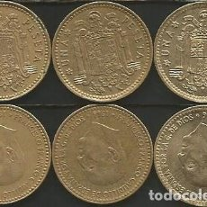 Monedas Franco: ESPAÑA 1966 (VER ESTRELLAS) - 1 PESETA - KM 796 - LOTE 3 MONEDAS CIRCULADAS. Lote 161234382