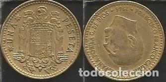 ESPAÑA 1966 *75 - 1 PESETA - KM 796 - CIRCULADA (Numismática - España Modernas y Contemporáneas - Estado Español)