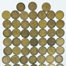 Monedas Franco: 80 MONEDAS. UNA PESETA FRANCISCO FRANCO. ESPAÑA 1947.1953.1963. Lote 161242262