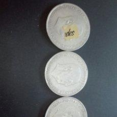 Monedas Franco: LOTE DE 3 MONEDAS DE PLATA DE 100 PESETAS DE FRANCO DE 1966 CON ESTRELLAS *66,*67 Y *68.. Lote 162019534