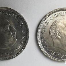 Monedas Franco: 2 MONEDAS DE 25 PESETAS. FRANCISCO FRANCO. BA. ESPAÑA 1957. Lote 161315694