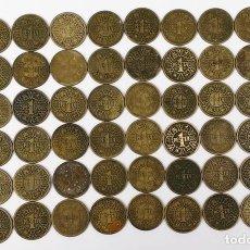 Monedas Franco: 60 MONEDAS DE UNA PESETA. FRANCISCO FRANCO. ESPAÑA 1944. Lote 161333562