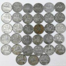 Monedas Franco: 33 MONEDAS DE DIEZ CÉNTIMOS. ESPAÑA 1940 . 1941 . 1945 .1953. Lote 161338906