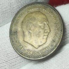 Monedas Franco: 1 PESETA 1947*54. Lote 161344144