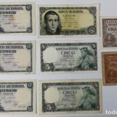 Monedas Franco: 8 BILLETES DE ESPAÑA. AÑOS 1948. 1951. 1953. 1954. Lote 161665770