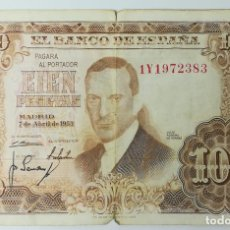 Monedas Franco: 1 BILLETES DE 100 PESETAS. ESPAÑA 1953. Lote 161673562