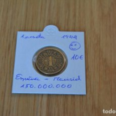 Monedas Franco: MONEDA 1 PESETA 1944. . Lote 162042606