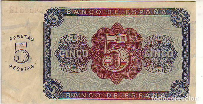 Banco De España Cinco Pesetas Burgos 1938