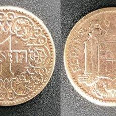 Monedas Franco: ESPAÑA - 1 PESETA, 1944 - KM# 767. Lote 162828910