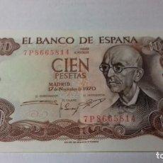 Monedas Franco: BILLETE DE 100 PESETAS DE MANUEL DE FALLA. Lote 163035958