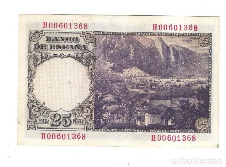 Monedas Franco: BILLETE. BANCO DE ESPAÑA. 25 PESETAS. 1946. FLOREZ ESTRADA. VER. PLANCHA - Foto 2 - 164519998