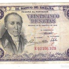 Monedas Franco - BILLETE. BANCO DE ESPAÑA. 25 PESETAS. 1946. FLOREZ ESTRADA. VER. PLANCHA - 164522778