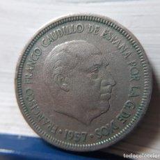Monedas Franco: ESTADO ESPAÑOL 5 PESETAS 1957 * 62 GIRADA. VARIANTE. Lote 165098406