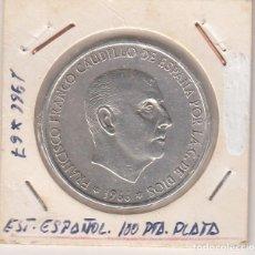 Monedas Franco: ÚNICA MONEDA DEL ESTADO ESPAÑOL FRANCO EN PLATA 100 PESETAS 1966*67 (**LEGIBLES). EBC+. Lote 165336286