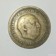 Monedas Franco: PESETA FRANCO 1947 ESTRELLA ILEGIBLE. Lote 165477478