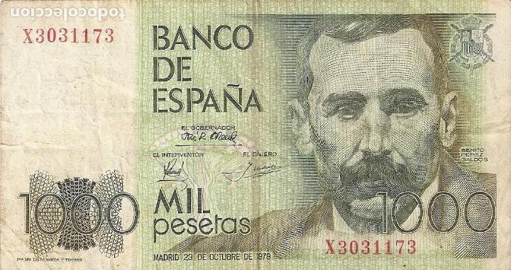 BILLETE 1000 PESETAS 1979 BC (Numismática - España Modernas y Contemporáneas - Estado Español)