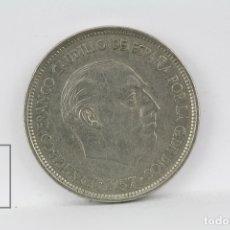 Monedas Franco: MONEDA ESTADO ESPAÑOL - 25 PESETAS 1957 *74 / NIQUEL - CONSERVACIÓN MBC. Lote 178751782