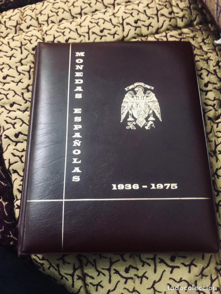 COLECCIÓN MONEDAS FRANCO 1936-1975 CON ALBUM PRONUMAS HAY 124 MONEDAS ENTRE ELLAS HAY DE PLATA Y BA (Numismática - España Modernas y Contemporáneas - Estado Español)