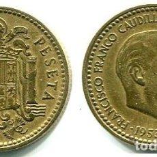 Monedas Franco: 1 PESETA 1953 ESTRELLAS 19-60 PERFECTAS . Lote 167838056