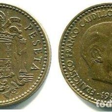 Monedas Franco: 1 PESETA 1963 ESTRELLAS 19-63 BIEN. Lote 167844252