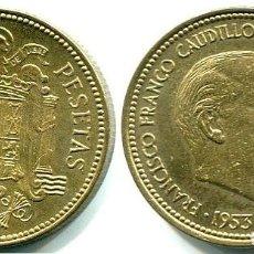 Monedas Franco: 2,50 PESETAS 1953 ESTRELLAS 19, 56 PERFECTAS (BRILLO ORIGINAL). Lote 167845244