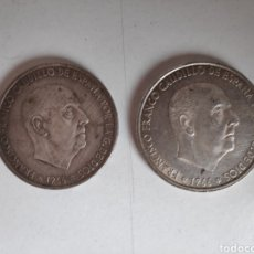 Monedas Franco: MONEDAS. 100 PESETAS DE PLATA DE 1966. LOTE DE 2 MONEDAS. Lote 167937897
