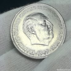 Monedas Franco: 5 PESETAS 1949*50 EBC. Lote 168237694
