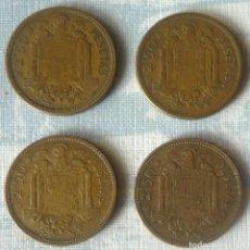 Monedas Franco: LOTE DE CUATRO MONEDAS DE 2,50 PTAS. ESTRELLAS CON 54 Y 56. Lote 168863072