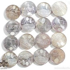 Monedas Franco: LOTE DE 16 MONEDAS 12 EUROS Y 2000 PESETAS - EN PLATA - COLECCIÓN. Lote 169689429