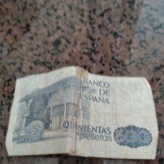 Monedas Franco: BILLETE 500 PESETAS. Lote 169955346