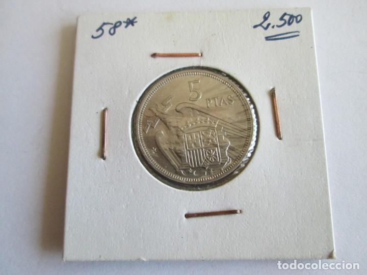 Monedas Franco: ESTADO ESPAÑOL * 5 PESETAS 1957*58 * S/C - Foto 2 - 170352608