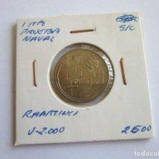 Monedas Franco: ESTADOS ESPAÑOL * 1 PESETA 1948 * PRUEBA DE LAS MAQUINAS DE ACUÑAR * TALLERES SAN CARLOS *SC. Lote 170447312