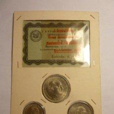 Monedas Franco: SERIE BA 5 PTA, 25 PTAS Y 50 PTAS ENTRADA Y SOBRE. Lote 169724280