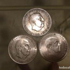 Monedas Franco: LOTE 3 MONEDAS 100 PESETAS PLATA FRANCO 1966. Lote 171451183