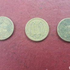 Monedas Franco: 3 MONEDAS 1 PESETA 1944. Lote 171495364