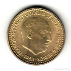 Monete Franco: ESTADO ESPAÑOL: 1 PESETA 1963 *19* *63* CALIDAD S/C FRANCISCO FRANCO 1963. Lote 190515410