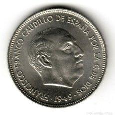 Moedas Franco: ESPAÑA 5 PESETAS NIQUEL 1949 ESTRELLA 49 CALIDAD S/C FRANCO. Lote 210540687