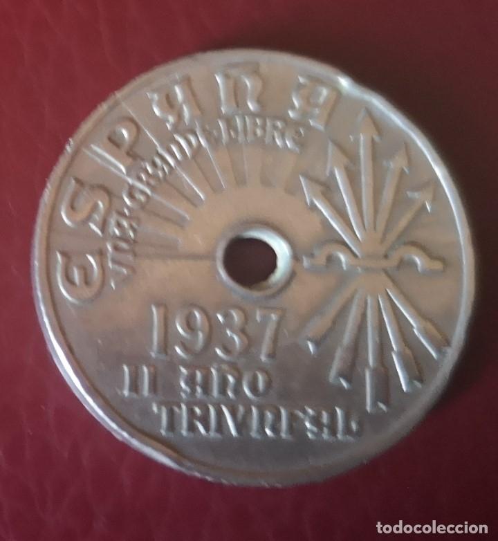 MONEDA DE 25 CTMS ESPAÑA (1937) (Numismática - España Modernas y Contemporáneas - Estado Español)