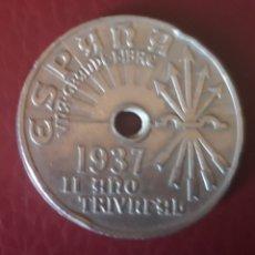 Monedas Franco: MONEDA DE 25 CTMS ESPAÑA (1937). Lote 172677153