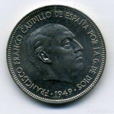 Monedas Franco: 5 PESETAS 1949 (*19-49) - SIN CIRCULAR. Lote 172867897