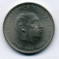 Monedas Franco: 5 PESETAS 1949 (*19-50) - SIN CIRCULAR. Lote 172867953